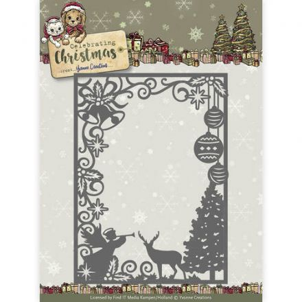 YCD10114 L ~ Celebration Christmas ~ Scene Rectangle Frame ~ Yvonne Creations